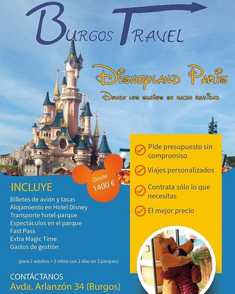 Oferta Burgos Travel Disney